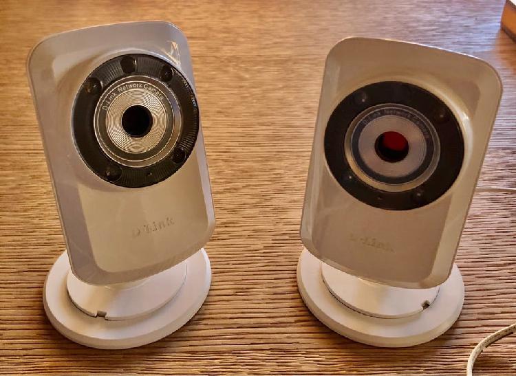 Dos cámaras d-link vídeo vigilancia