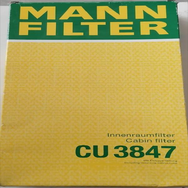 Filtro, aire habitáculo mann-filter- cu 3847