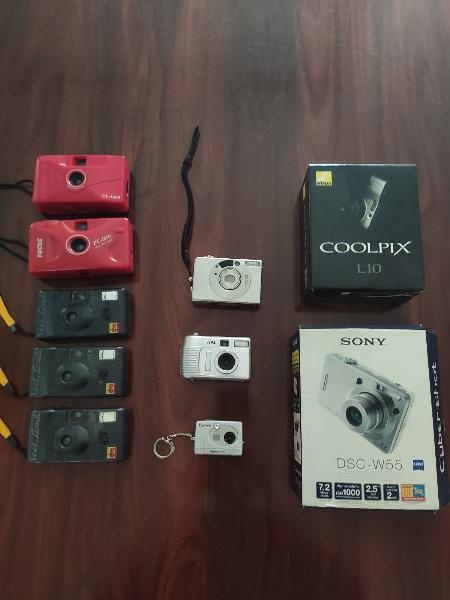 Lote cámaras de fotos