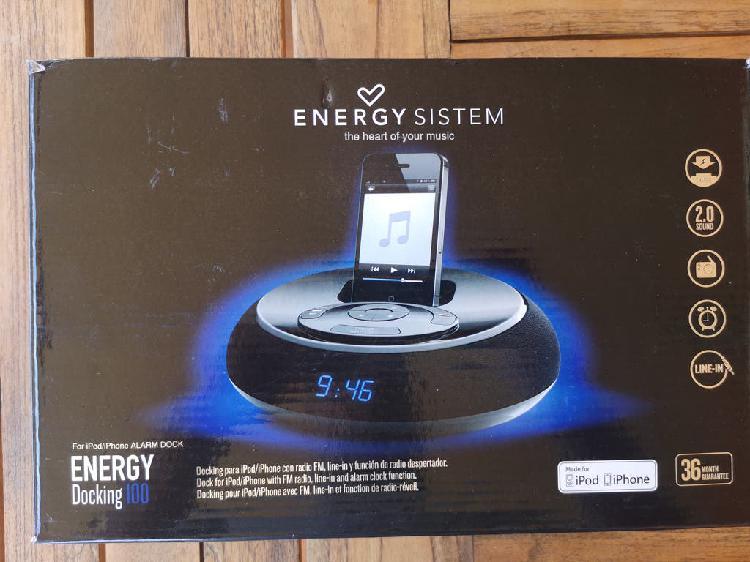Radio despertador y docking ipod energy sistem