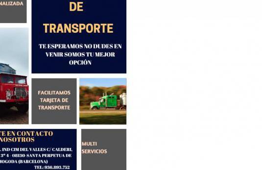 Cooperativa tarjeta transporte