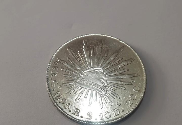 Moneda de la república mexicana 1895 -- plata!!