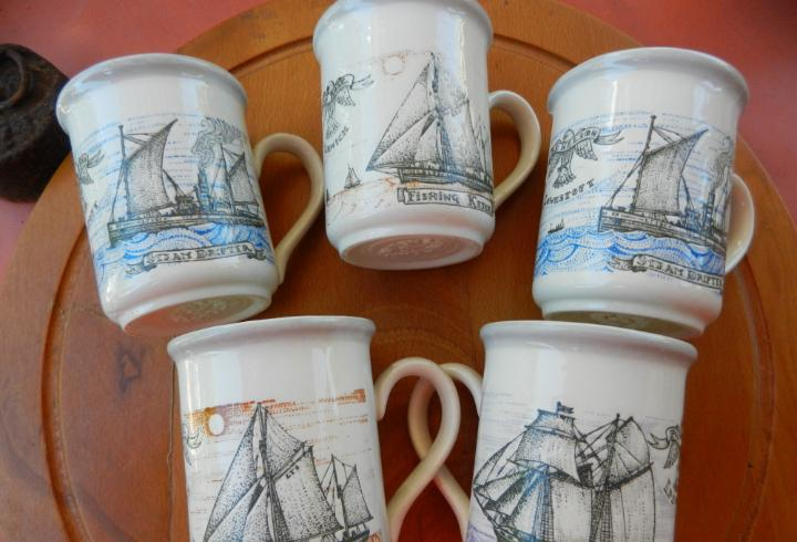 Tazas cerámica biltons-england - conjunto de 5 tazas -