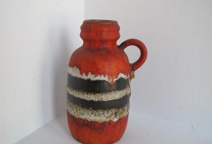 Vintage scheurich / 413-20 fat lava jarrón west german