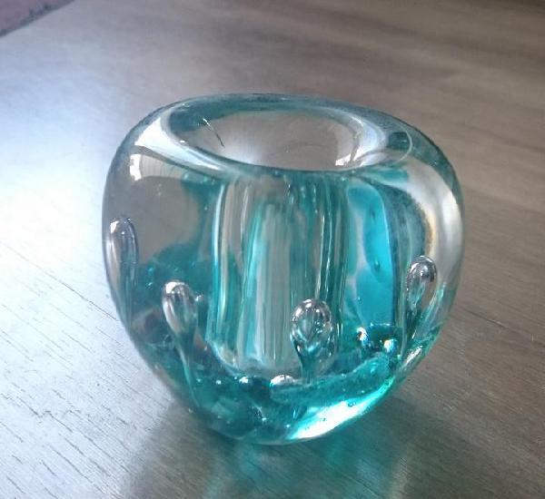 Pisapapeles vidrio años 70 vintage bola cristal decoracion