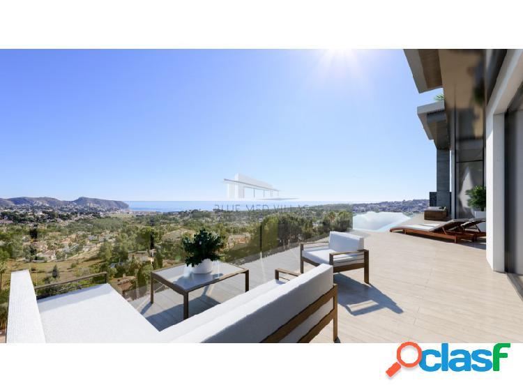 Villa de lujo en construcción con vistas al mar en venta en moraira