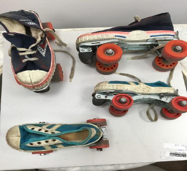 2 juegos de patines antiguos vintage