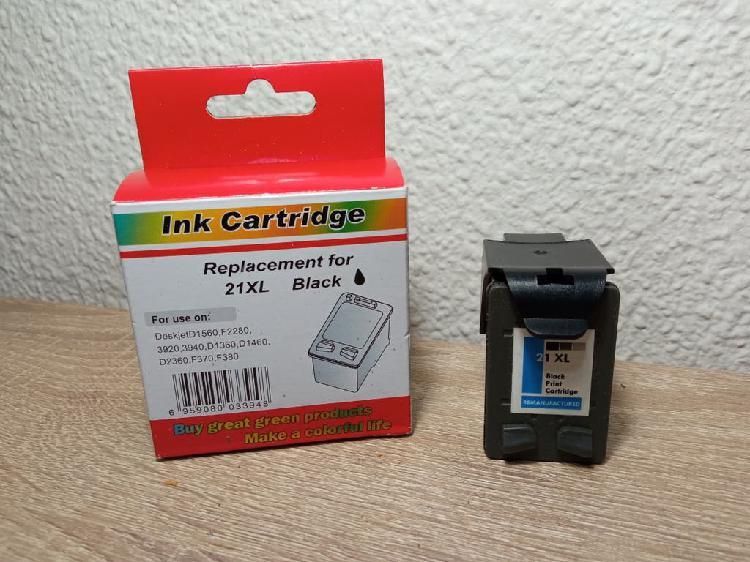 Cartucho tinta negra compatible impresora hp 21xl