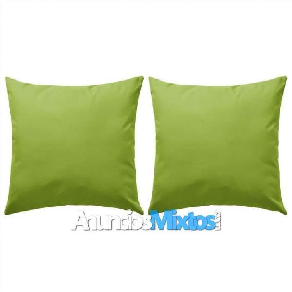 Cojines para exteriores 45x45 cm verde manzana 2 u