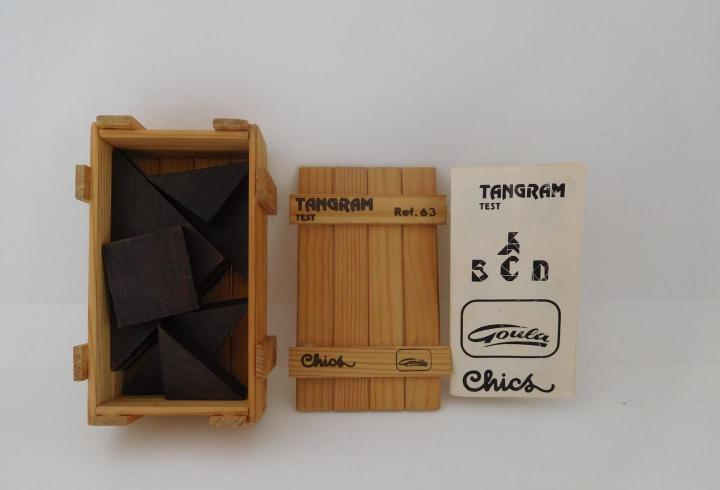Juego tangram test. ref 63. goula chics.