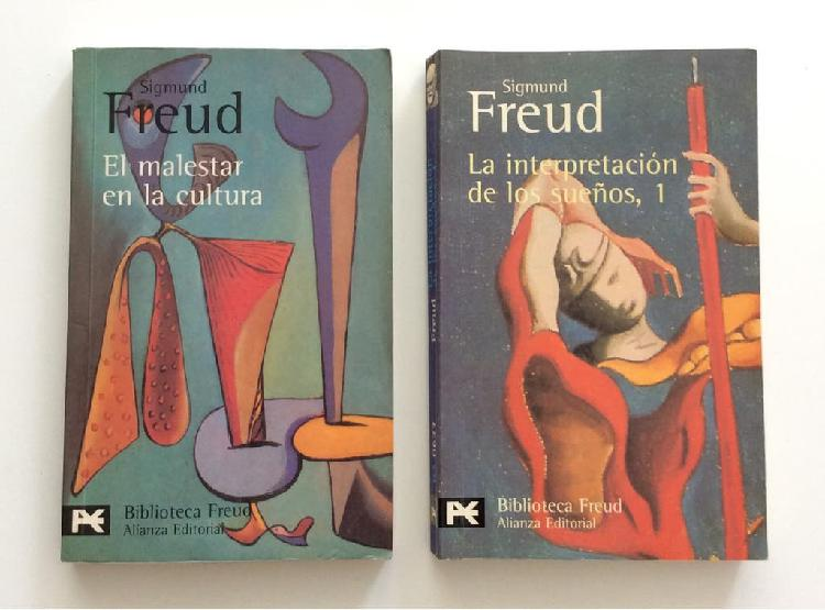 Lote 2 libros sigmund freud