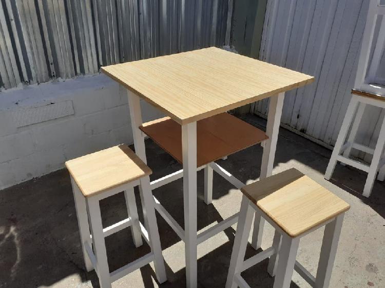 Mesa alta 4 taburetes