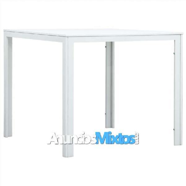 Mesa de centro de hdpe con aspecto de madera blanc