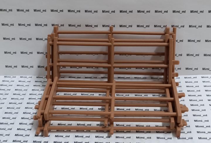 Playmobil 6 tramos vallas grandes cercado animales vallado
