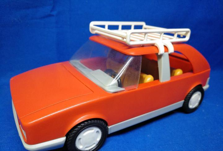 Playmobil Antiguo coche rojo con baca