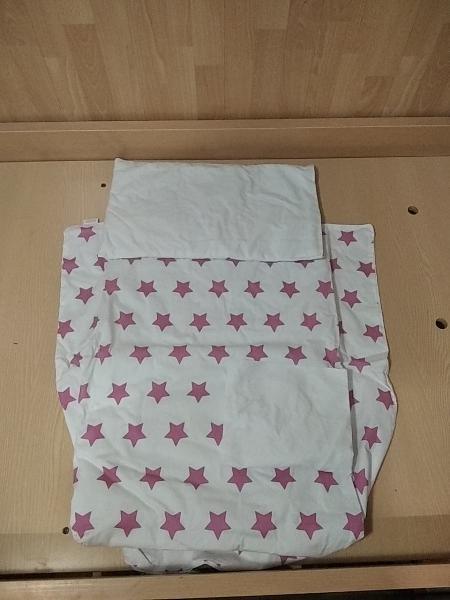 Funda nórdica para minicuna con almohada y bajera