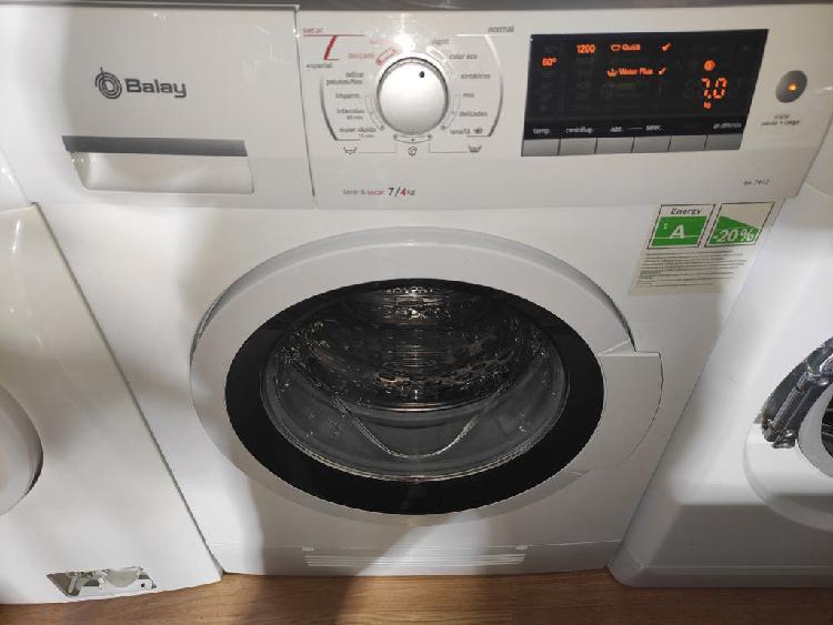 Lavadora secadora balay 7/4 kg a 1200 rm