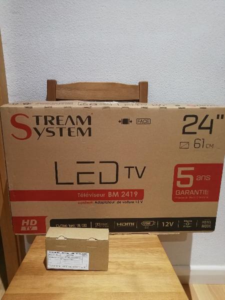 Tv hd 24 pulgadas de stream system