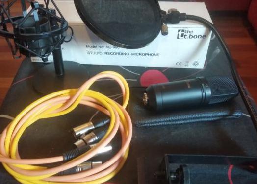 Micrófono estudio condensador con extras