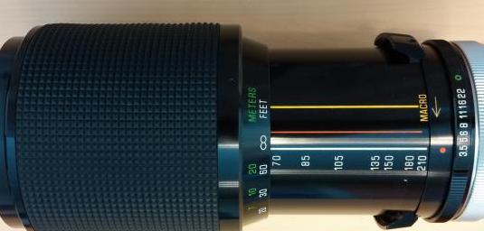 Objetivo zoom 70-210 fd. f3.5. vivitar