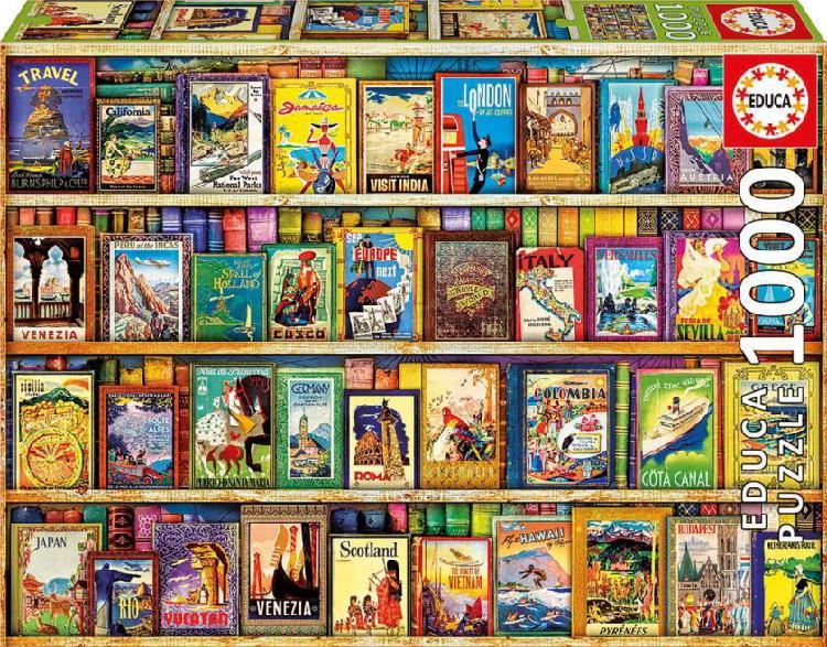 Puzle viajando por el mundo educa 1000 piezas