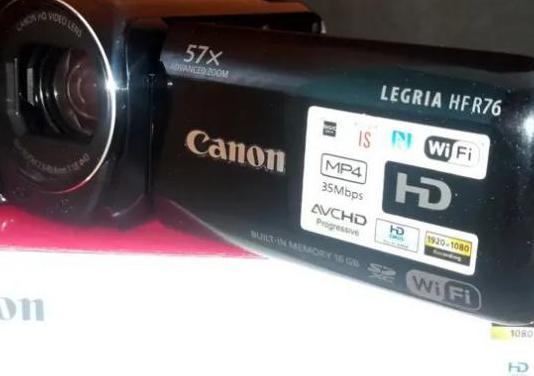 Videocámara hd canon legria hf r76