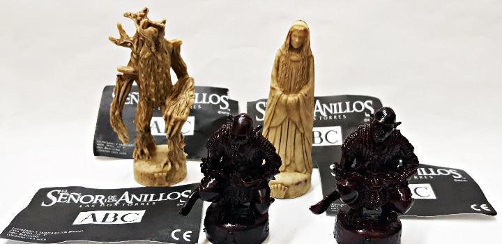 4 figuras de ajedrez.el señor de los anillos.abc: