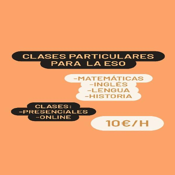 Clases particulares eso
