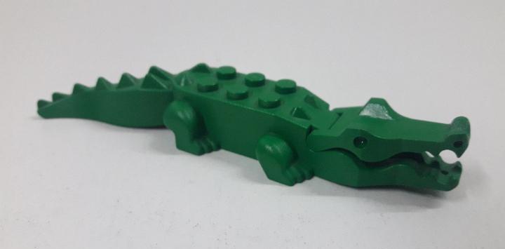 Cocodrilo verde. original de lego