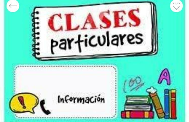 Clases particulares niños hasta 6° primaria