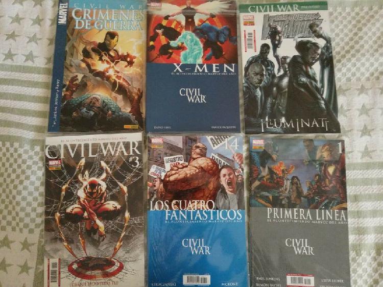 Colección de comics marvel civil war 2007 - varios