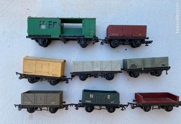 Lote de vagones de tren varias marcas, triang, mecaccano,
