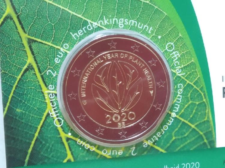 Moneda conmemorativa 2 euros bélgica 2020 sanidad