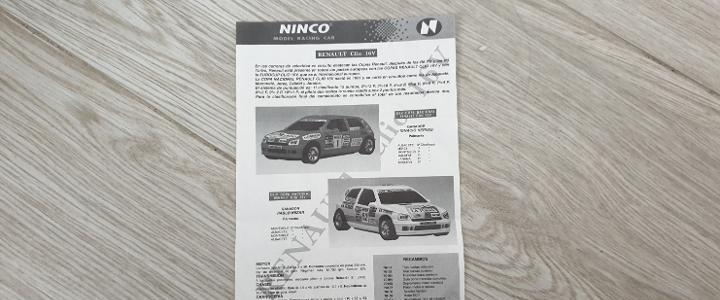 Ninco renault clio 16 v instrucciones de ninco scalextric