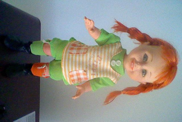Pippi pipi toyse made spain muñeca original 70´s 33 cms
