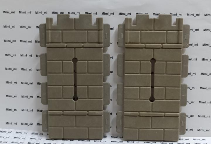 Playmobil 2 saeteros planos castillo medieval pared piedra