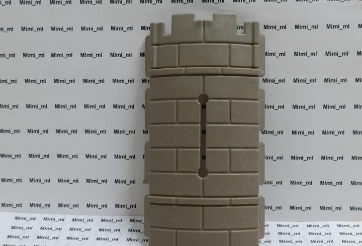 Playmobil saetero curvo castillo medieval torre pared piedra