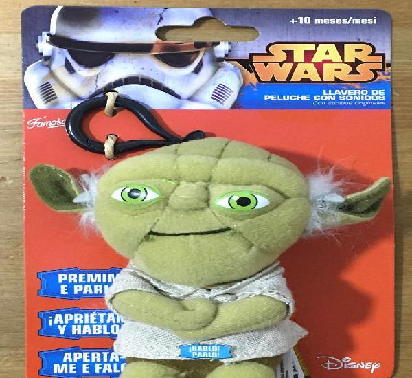 Star wars yoda porta llavero de peluche con sonido