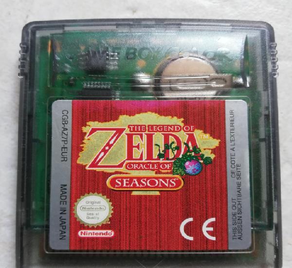 Vídeo juego the legend of zelda oracle of seasons para