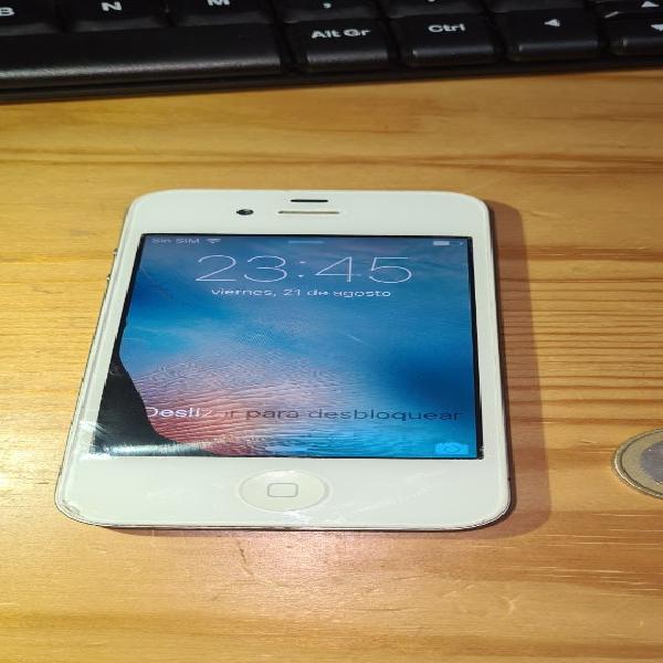 Iphone 4s blanco sin bloqueo icloud