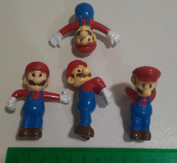 Mario bros kelloggs promocional 90 goma muñeco pvc goma