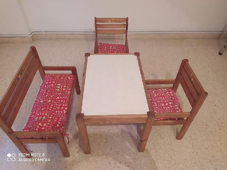 Mesa sillas para niños niñas