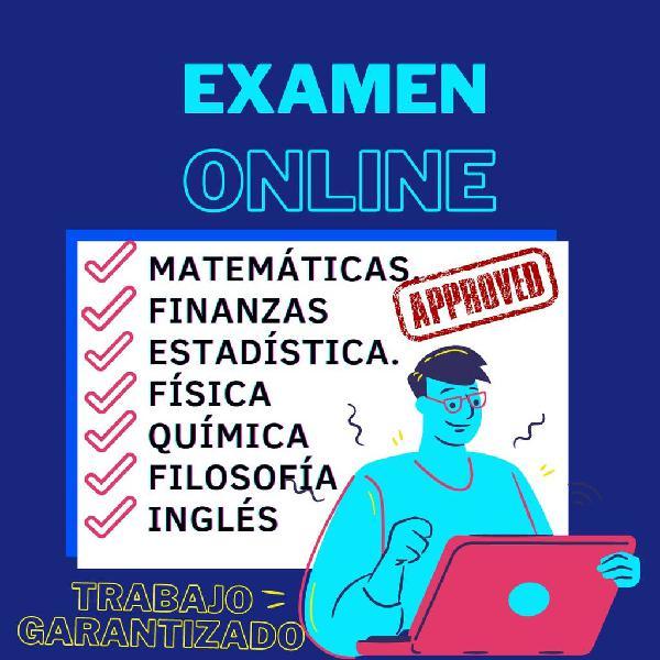 Examen,física,química,estadística,matemáticas