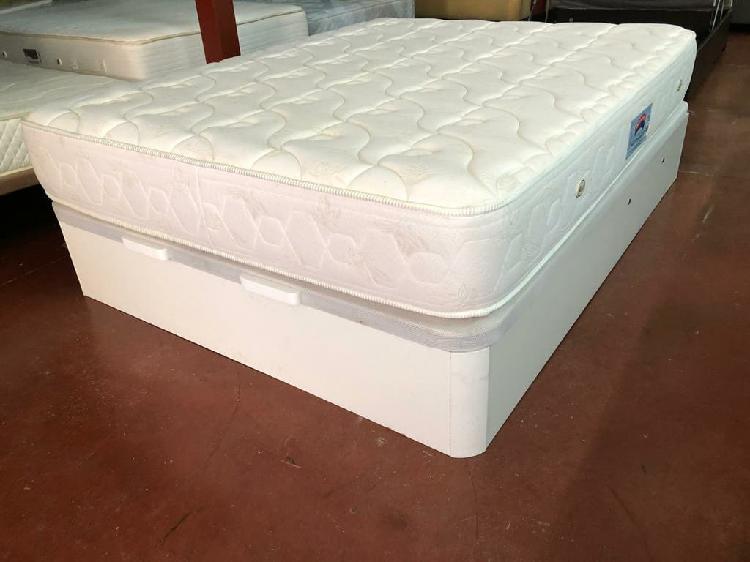135x190 canapé madera blanco tapa3d granbox colch