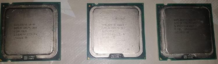 3 procesadores intel core 2 duo socket 775