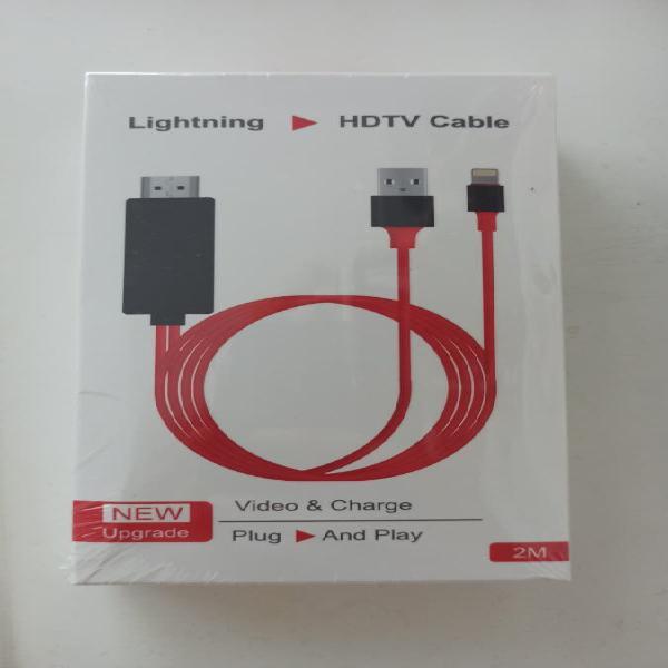 Cable adaptador de iphone a tv fullhd 1080 p