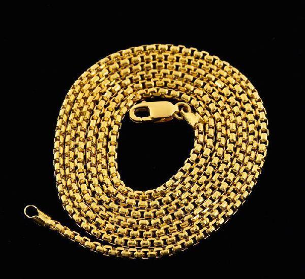 Cadena collar de oro amarillo de 18k. longitud 60 cm. peso