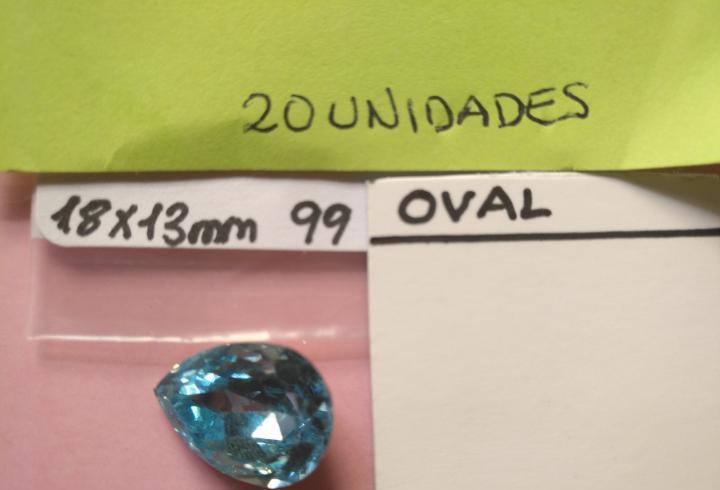 Forma lagrima swarovski 20 piedras de cristal originales oro