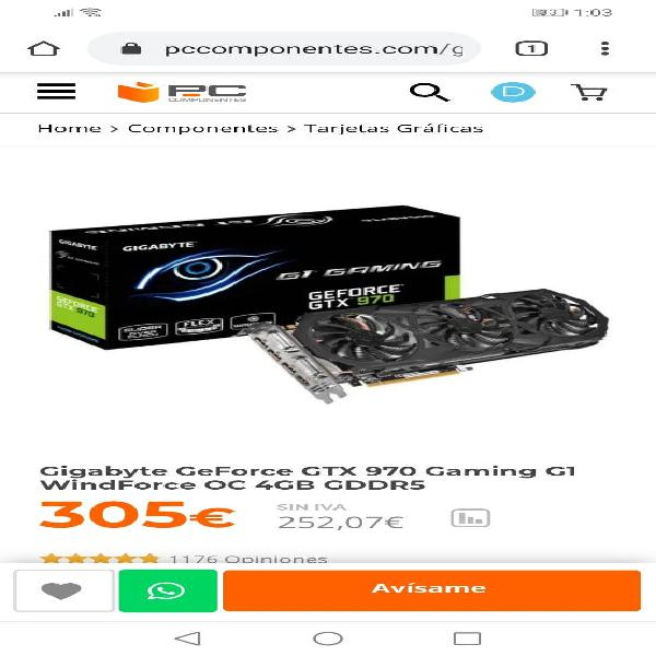 Gigabyte geforce gtx 970 gaming g1 windforce oc 4g