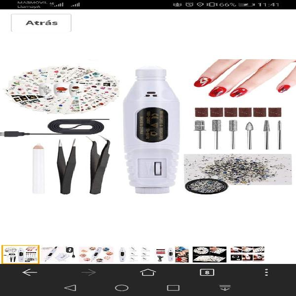 Lima de uñas eléctrica, justdolife kit de manicura